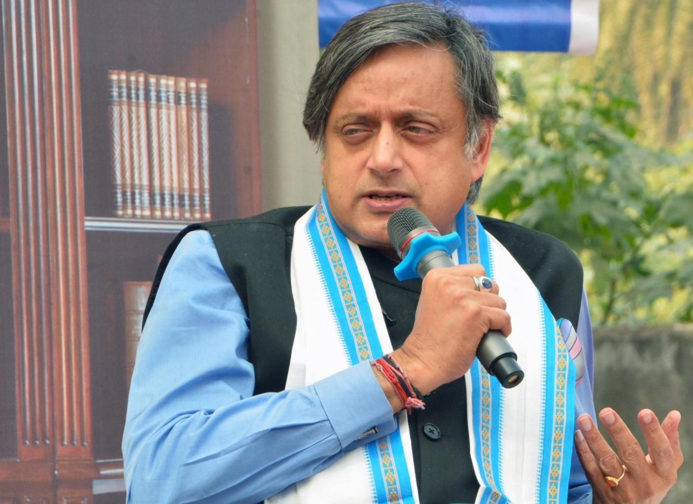 "Kolkata: Congress leader Shashi Tharoor addresses at ""Inspire The Champion In You Series"" programme in Kolkata, on Jan 18, 2019. (Photo: Kuntal Chakrabarty/IANS) by ."