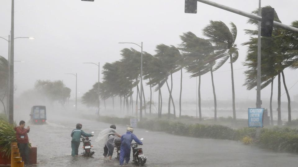 """Bhubaneswar: Cyclone """"Fani"""" is very likely to move northwestwards during next 12 hours and thereafter re-curve north-northeastwards and cross Odisha Coast between Gopalpur and Chandbali, to the south of Puri around 3rd May afternoon with maximum sustained wind of speed 175-185 kmph gusting to 205 kmph. (Photo: IANS/PIB) by ."""