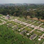 Aerial view over the newly constructed main spine of the Sunder Nursery public garden. (Photo Credit: The Aga Khan Trust for Culture) by .