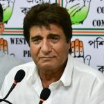 Kolkata: Actor-turned-politician Congress leader Raj Babbar addresses a press conference, in Kolkata, on April 26, 2019. (Photo: IANS) by .