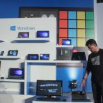New Delhi: Microsoft launches Windows 10 at Pragati Maidan in New Delhi, on July 29, 2015. (Photo: IANS) by .