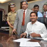 Amaravati: Andhra Pradesh Chief Minister Y.S. Jagan Mohan Reddy occupies his office in the State Secretariat in Amaravati, on June 8, 2019. Jagan, as the Chief Minister is popularly known, had been functioning from his residence after taking oath on May 30. (Photo: IANS) by .
