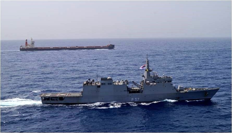 "IndianNavy executes 'Operation Sankalp' - Deploys INS Chennai & INS Sunayna in the Gulf of Oman, to re-assure Indian Flagged Vessels operating/ transiting through Persian Gulf & Gulf of Oman following the maritime security incidents in the region; on June 20, 2019. In wake of suspected attacks on two merchant ships in the Persian Gulf and Gulf of Oman region, the Indian Navy launched ""Operation Sankalp"" in the region to reassure Indian flagged vessels transiting through the area. (Photo Credit: Twitter/@indiannavy) by ."