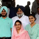 New Delhi: Shiromani Akali Dal chief and Ferozpur MP Sukhbir Singh Badal and his wife Bathinda MP Harsimrat Kaur Badal with their family at Parliament in New Delhi on June 17, 2019. (Photo: Amlan Paliwal/IANS) by .