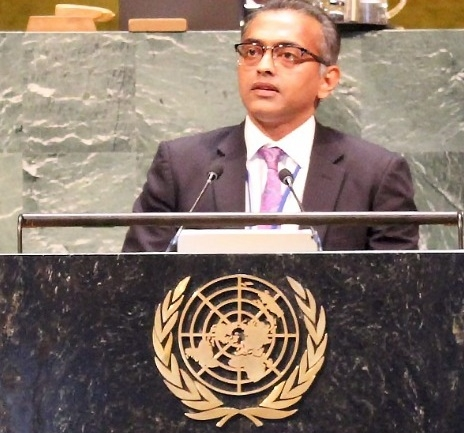 Nagaraj Naidu, India's Deputy Permanent Representative to the United Nations. (Photo: India Mission/IANS) by .
