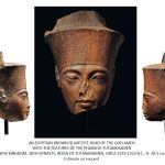 An Egyptian brown quartzite head of Tutankhamen as the God Amen (Source: Christies) by .