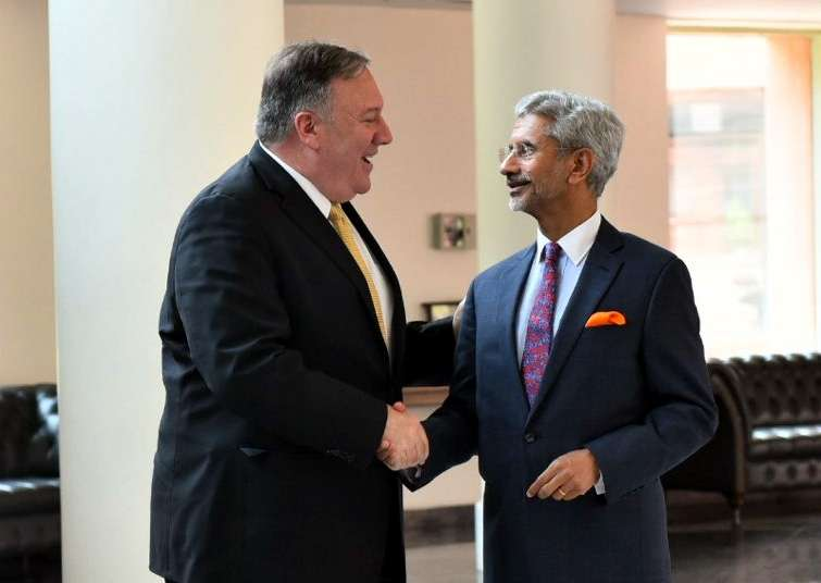 New Delhi: US Secretary of State Mike Pompeo meets External Affairs Minister S. Jaishankar in New Delhi on June 26, 2019. (Photo: IANS/MEA) by .