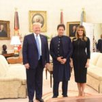 Washington: US President Donald Trump, First Lady Melania Trump with Pakistan Prime Minister Imran Khan at their meeting at White House in Washington on July 22, 2019. (Photo: Twitter / @PTIofficial) by .