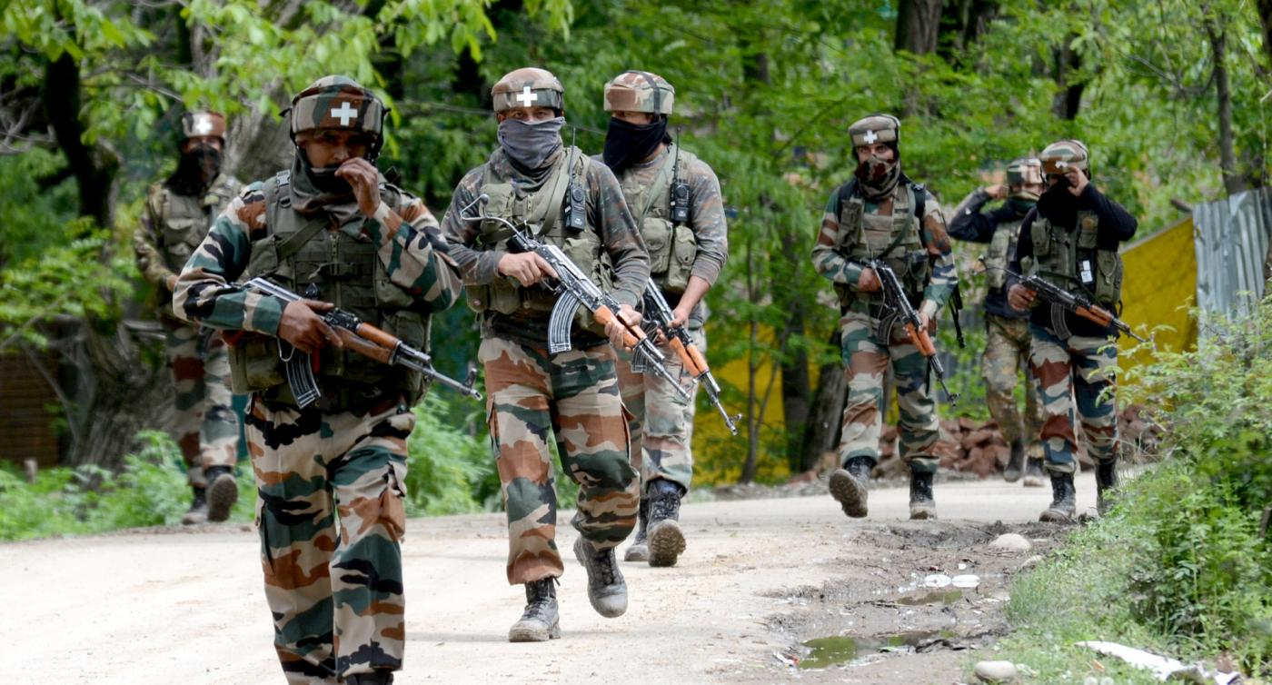 Soldiers in Jammu and Kashmir. (Photo: IANS) by .