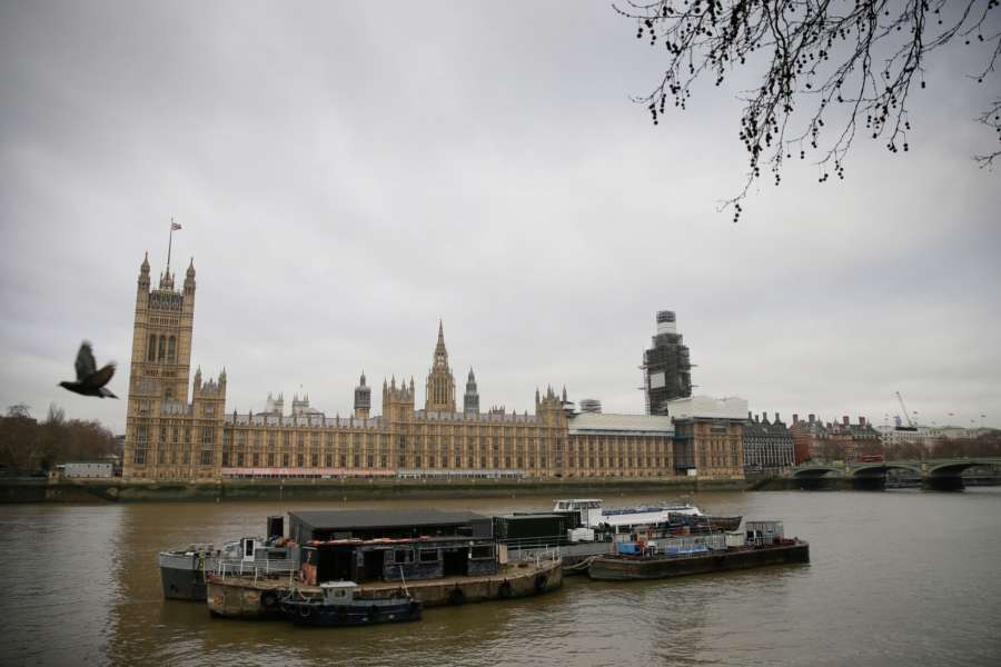 LONDON, Jan. 7, 2019 (Xinhua) -- Photo taken on Jan. 7. 2019 shows the Houses of Parliament in London, Britain. MPs returned to Westminster Monday after the festive and new year break, and will resume debate on the Brexit bill on Wednesday, with the crucial vote expected in the early part of the following week. (Xinhua/Tim Ireland/IANS) by .