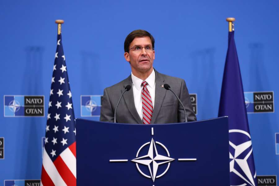 BRUSSELS, June 28, 2019 (Xinhua) -- U.S. Acting Secretary of Defense Mark Esper attends a press conference after a NATO defense ministers meeting at NATO headquarters in Brussels, Belgium, on June 27, 2019. The two-day NATO defense ministers meeting closed on Thursday. (Xinhua/Zhang Cheng/IANS) by .