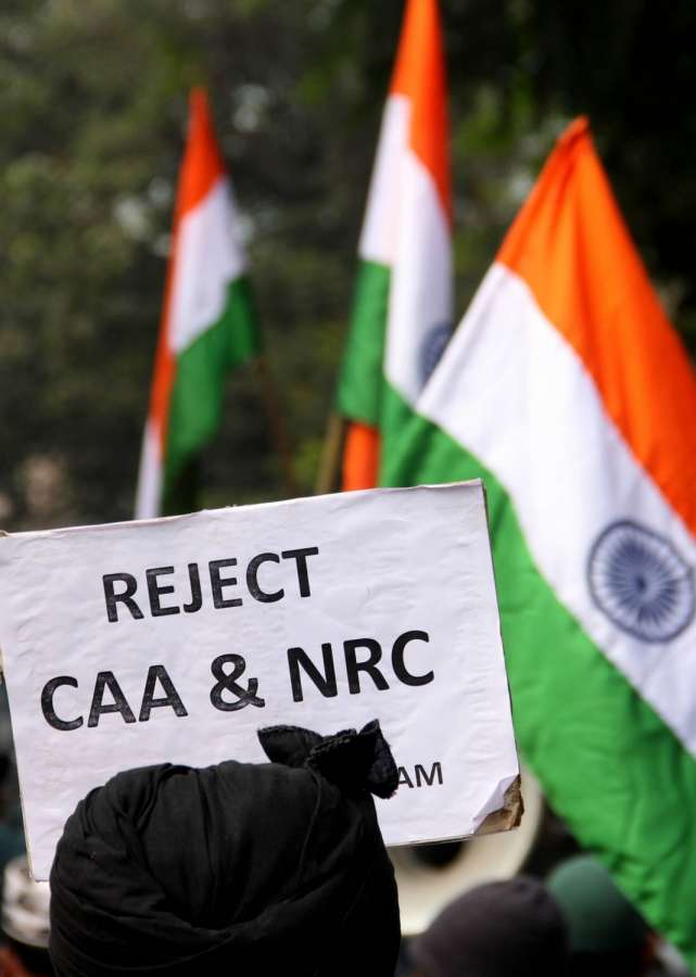 Kolkata: Members of Majlis-e-Ulama-e-Islam West Bengal participate in a protest rally against the Citizenship Amendment Act (CAA) 2019 and National Register of Citizens (NRC), in Kolkata on Dec 21, 2019. (Photo: Kuntal Chakrabarty/IANS) by .