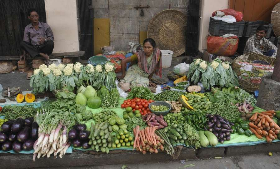 Vegetable market. (File Photo: IANS) by .