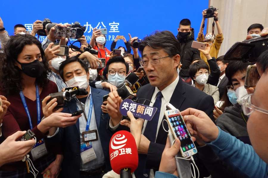 BEIJING, Jan. 26, 2020 (Xinhua) -- Gao Fu, head of the Chinese Center for Disease Control and Prevention (China CDC), answers questions at a press conference on the prevention and control of the novel coronavirus outbreak held by the State Council Information Office, in Beijing, capital of China, on Jan. 26, 2020. (Xinhua/Cai Yang/IANS) by .