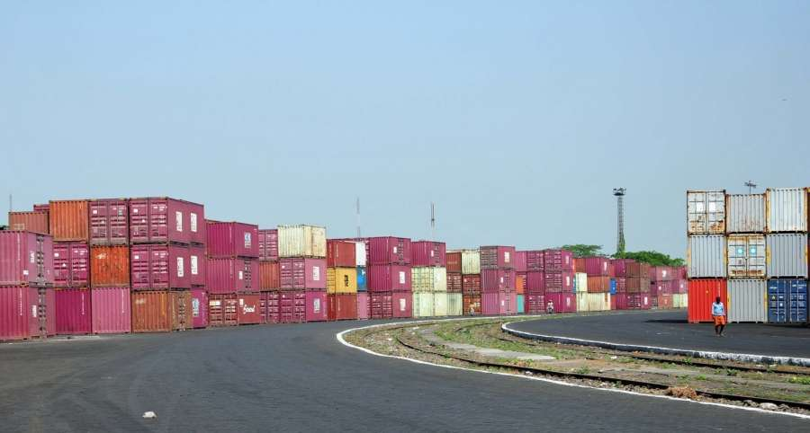 Container Terminus of Container Corporation of India. (File Photo: IANS) by .