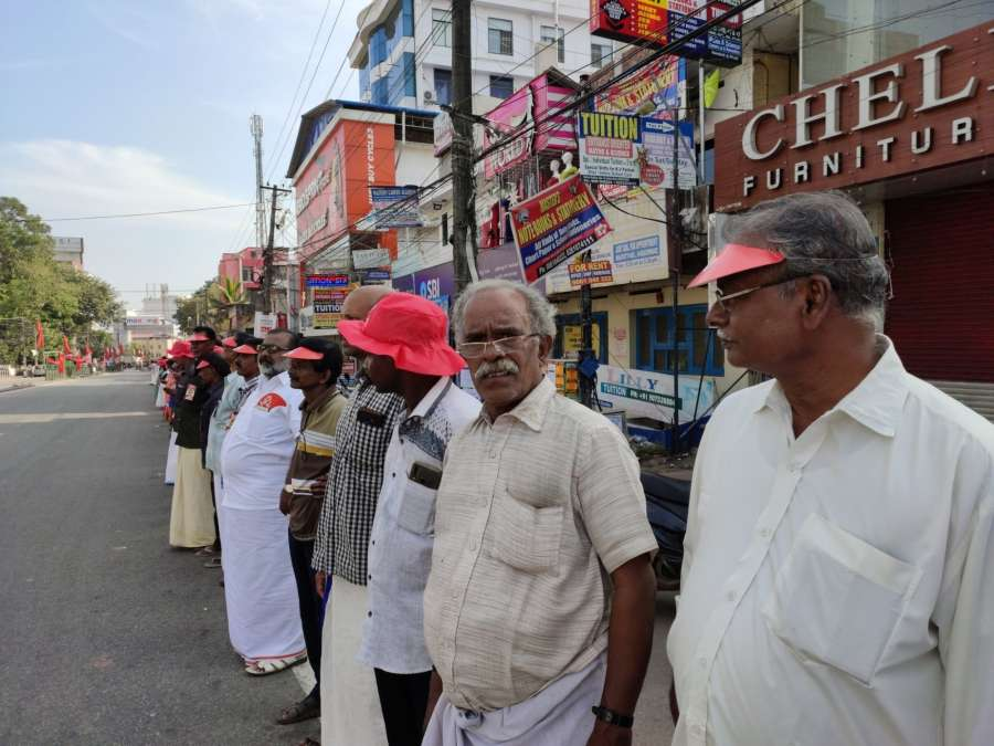 Billed as one of the biggest protests against the CAA, Kerala's CPI-M-led Left Democratic Front (LDF) on Sunday organised a human chain extending from Kasargod to the Tamil Nadu border near here, involving participation of an estimated seven million people. by .