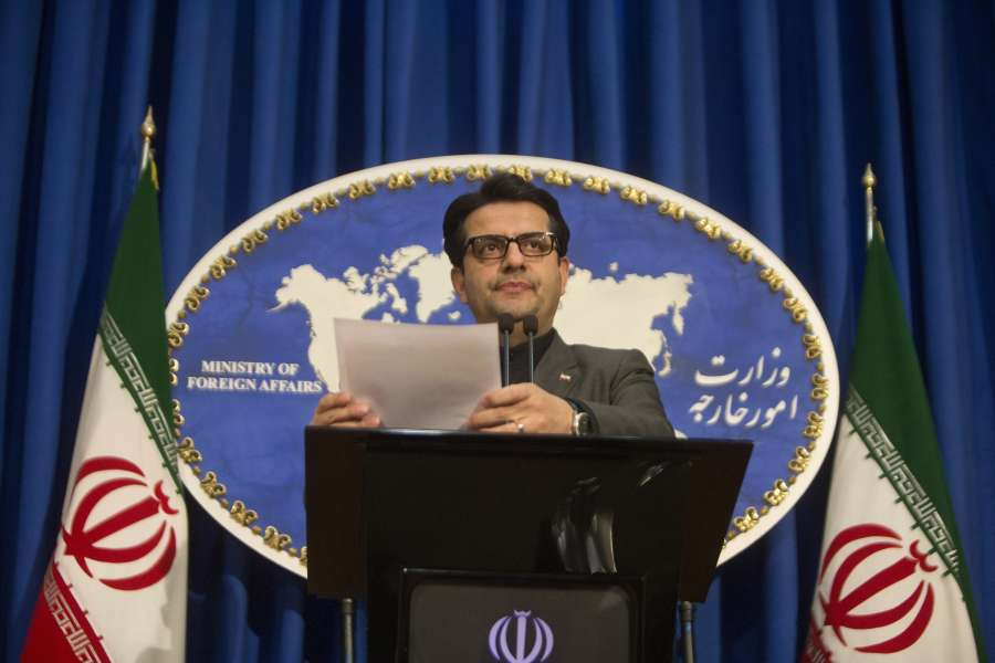 "TEHRAN, Jan. 6, 2020 (Xinhua) -- Iranian Foreign Ministry spokesman Abbas Mousavi attends a press conference in Tehran, Iran, on Jan. 5, 2020. Abbas Mousavi on Sunday criticized as ""unconstructive"" some Europeans' stances over the recent U.S. assassination of a senior Iranian military commander. (Photo by Ahmad Halabisaz/Xinhua/IANS) by ."