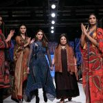 Mumbai: Actress Aditi Rao Hydari with fashion designer Ritu Kumar on Day 3 of the Lakme Fashion Week Summer/Resort 2020, in Mumbai on Feb 13, 2020. (Photo: IANS) by .
