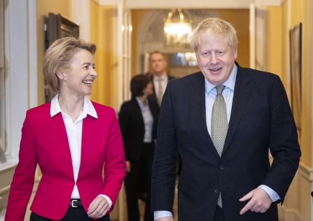 Bilateral meeting between between PM Boris Johnson and President von der Leyen by .
