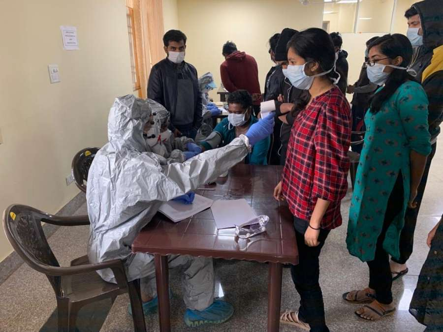 New Delhi: Samples of all 406 people who arrived from Wuhan, China collected for final test in view of the coronavirus outbreak, at ITBP Quarantine facility in Chhawla, New Delhi on Feb 14, 2020. Reports expected in 2-3 days. Periodical checkups also being done as per medical protocol. No fresh symptoms seen. (Photo: IANS/DPRO) by .