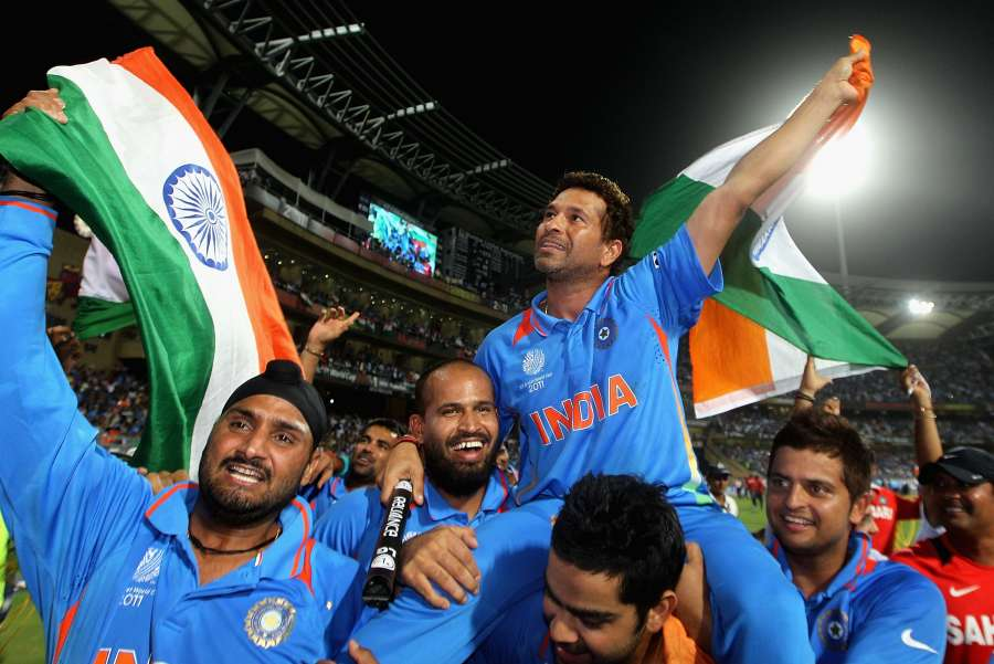 India v Sri Lanka - 2011 ICC World Cup Final by .