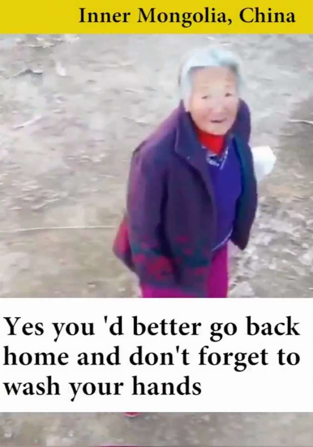 A video is doing the rounds on the internet in which Chinese officials in rural areas are creatively using drones to make sure local residents don't gather together without wearing masks during the nationwide battle against the #coronavirus. In the viral video, residents of a village in Inner Mongolia are startled when they hear a disembodied voice from a hovering drone admonishing them for not wearing face masks outside. by .