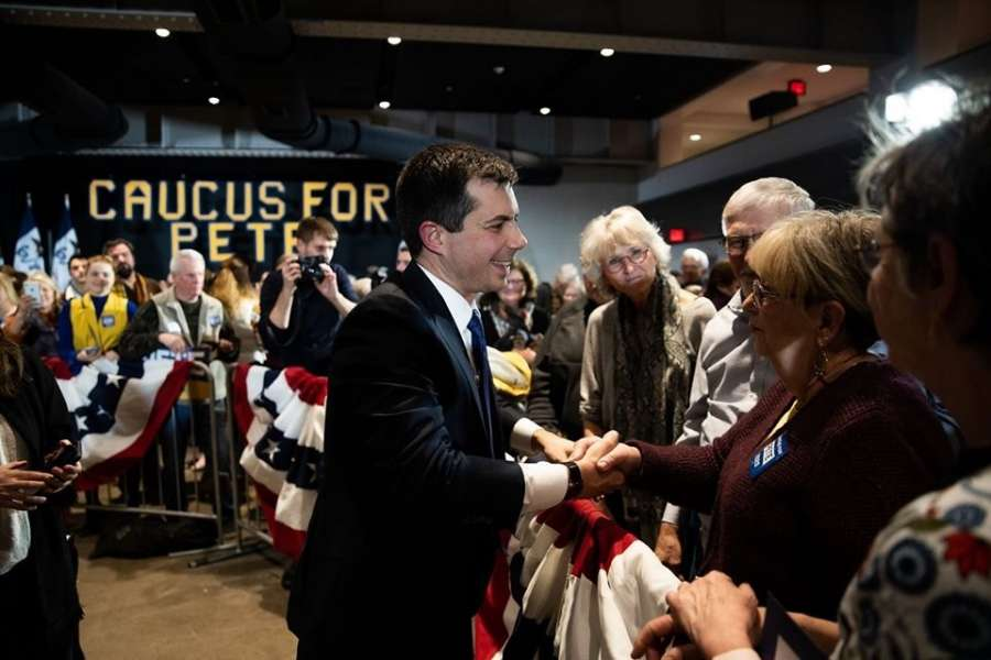 Pete Buttigieg, the mayor of South Bend, Indiana, who is running for the Democratic Party nomination for president campaigns in Iowa. (Photo: Buttigieg Facebook) by .