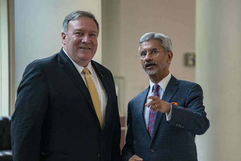 External Affairs Minister S. Jaishankar and United States Secretary of State Mike Pompeo. (File photo: State Dept./IANS) by .