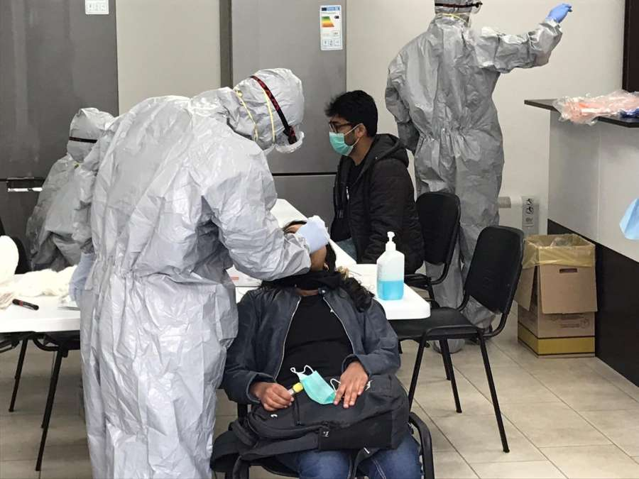 The Indian medical team collecting samples for testing amid COVID-19 pandemic, in Rome, Italy. by .