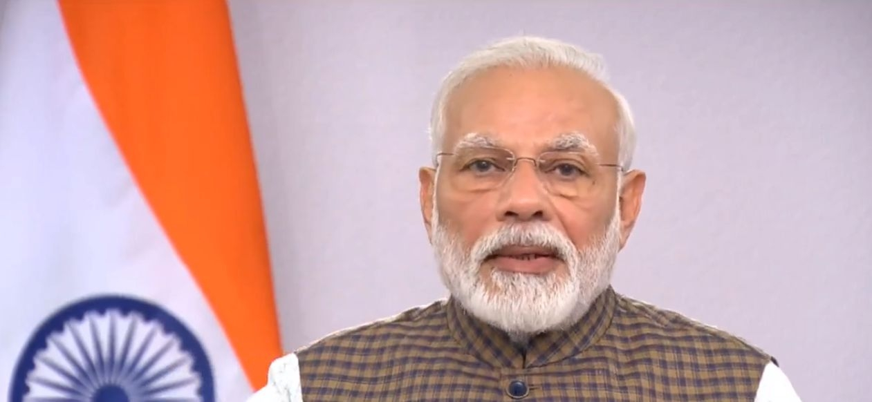 New Delhi: Prime Minister Narendra Modi addresses the nation on vital aspects relating to the menace of COVID-19, in New Delhi on March 24, 2020. (Photo: IANS) by .
