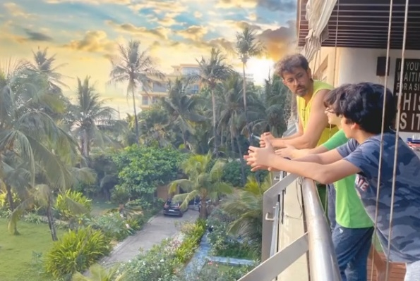 Lockdown diaries: Hrithik, sons savour a beautiful balcony view. by .