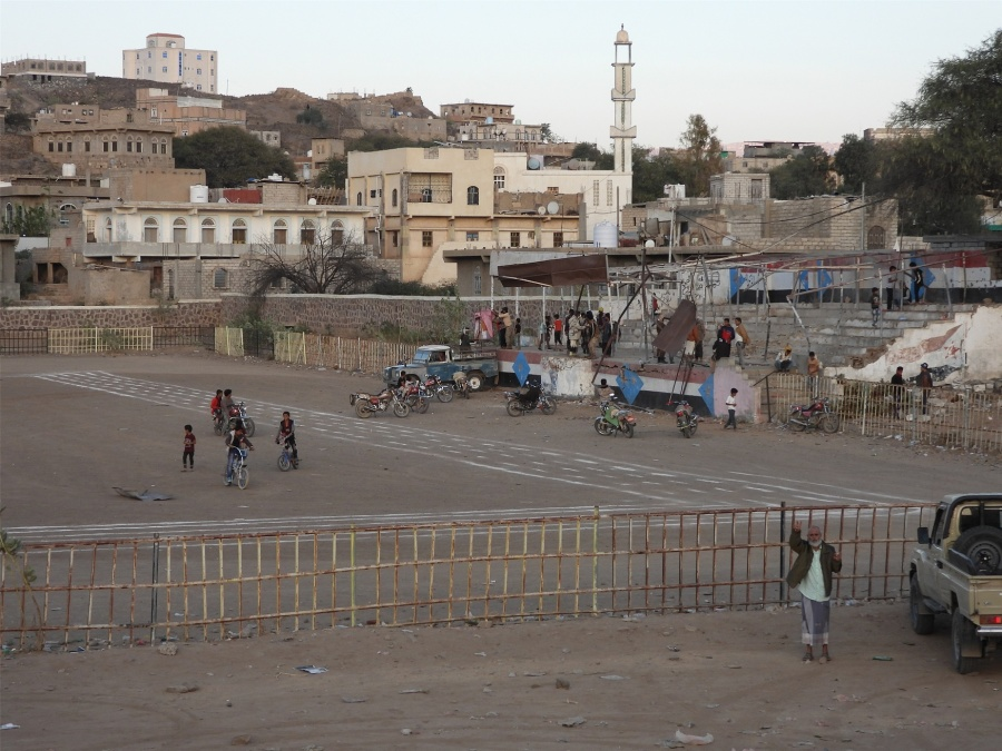 DHALEA (YEMEN), Dec. 29, 2019 (Xinhua) -- People gather at the site of a missile attack that targeted a military graduation parade in Dhalea city, southern Yemen, on Dec. 29, 2019. A ballistic missile fired by the Houthi rebels struck a military graduation parade of the newly-recruited forces in the southern Yemeni province of Dhalea on Sunday, a military spokesman told Xinhua. A security official said on condition of anonymity that earlier medical reports showed around 10 soldiers were killed and some 25 others injured during the blast. (Xinhua/IANS) by .