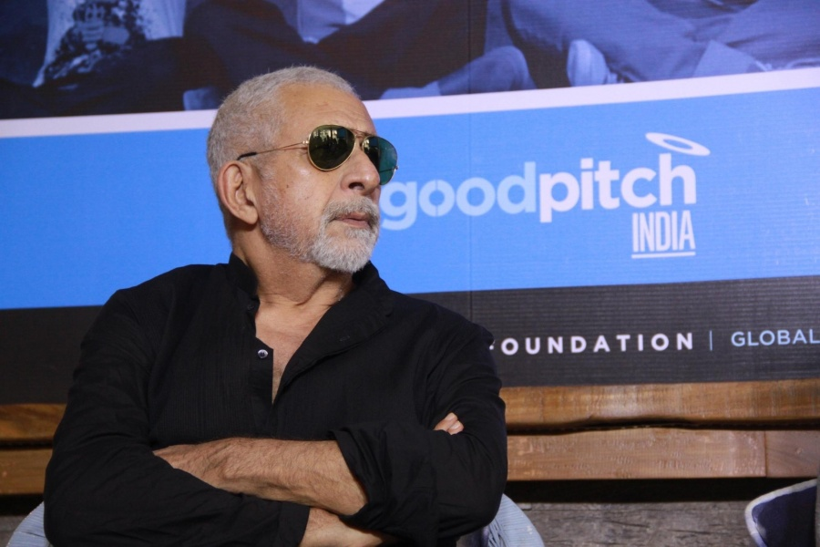 Mumbai: Actor Naseeruddin Shah during a press announcement for 'Films For Change' initiative organised by Good Pitch India in Mumbai on March 14, 2018. (Photo: IANS) by .