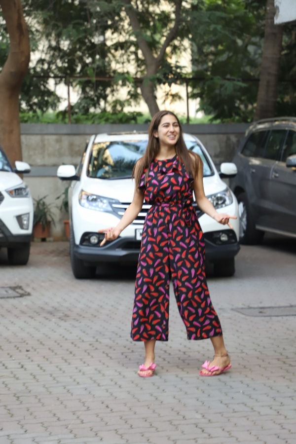 Mumbai: Actress Sara Ali Khan seen at filmmaker Anand L Rai's office at Andheri in Mumbai on Jan 21, 2020. (Photo: IANS) by .