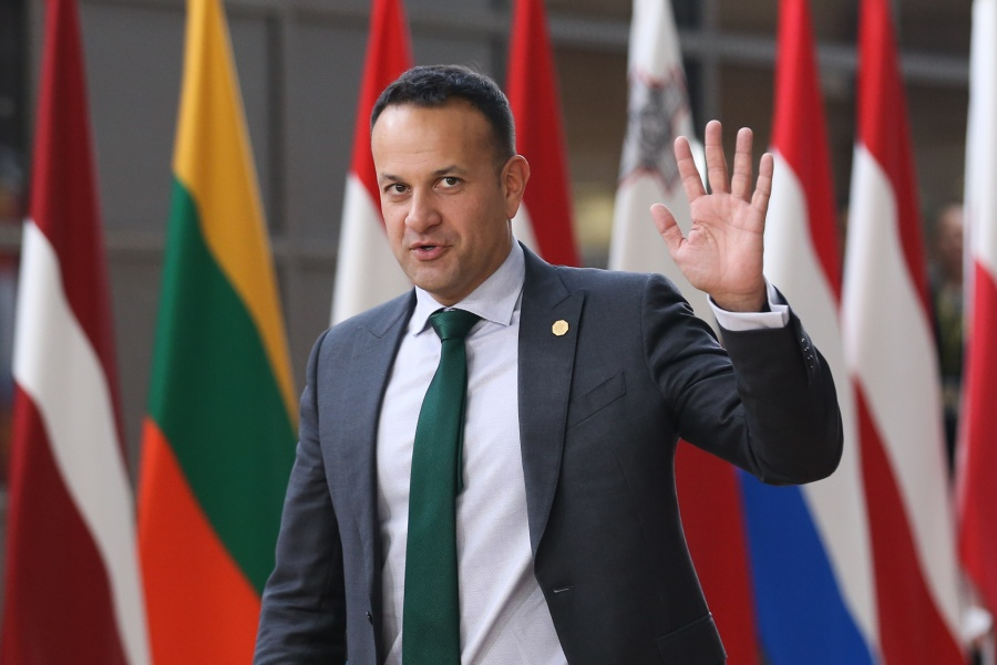 "BRUSSELS, May 28, 2019 (Xinhua) -- Irish Prime Minister Leo Varadkar arrives at the European Union headquarters for an informal dinner of EU heads of state or government in Brussels, Belgium, on May 28, 2019. The European Union (EU) member states leaders didn't discuss names of the candidates but only the process to choose new president of the European Commission (EC), European Council President Donald Tusk said here Tuesday. During a press conference following the leaders informal dinner, Tusk told reporters that Tuesday's discussion confirmed the agreement reached by the leaders in February last year, that ""the European Council will exercise its role when electing the Commission president, meaning -- in accordance with the Treaties -- that there can be no automaticity."" (Xinhua/Zheng Huansong/IANS) by ."