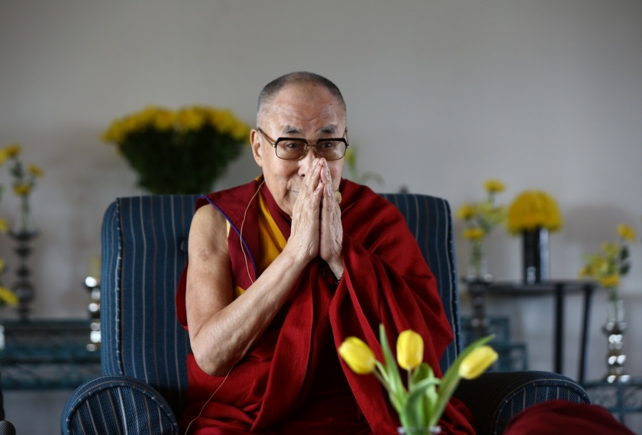 New Delhi: Tibetan spiritual leader the Dalai Lama during an interactive session in New Delhi on Sep 21, 2019. (Photo: Bidesh Manna/IANS) by .