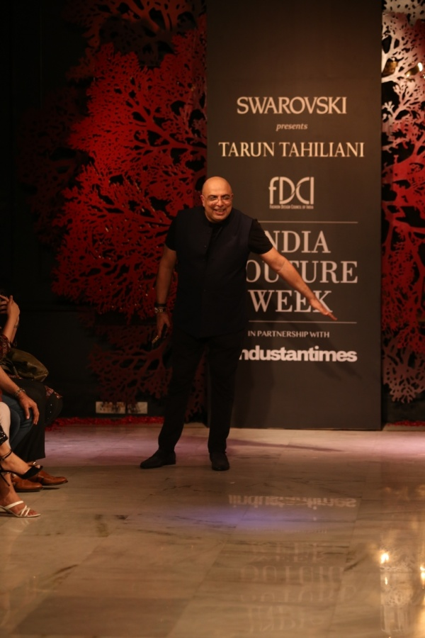 New Delhi: Fashion designer Tarun Tahiliani at the India Couture Week 2019 in New Delhi, on July 28, 2019. (Photo: Amlan Paliwal/IANS) by .