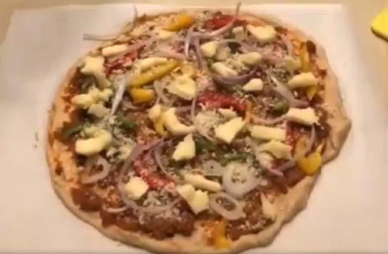 Lockdown diaries: 'Moody chef' Bhumi Pednekar makes a pizza. by .