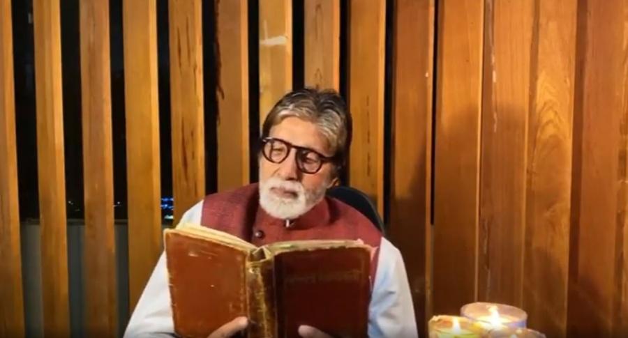 Big B recites father Harivansh Rai Bachchan's poem on hope. by .
