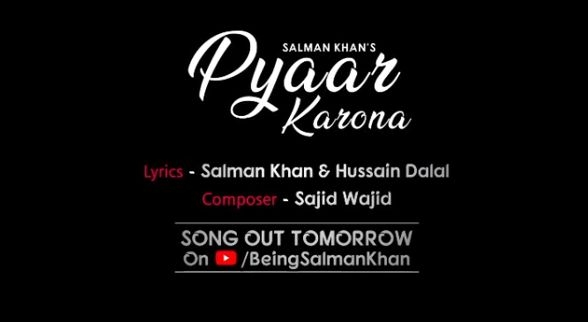 'Pyaar Karona': Salman Khan comes up with a song on coronavirus. by .