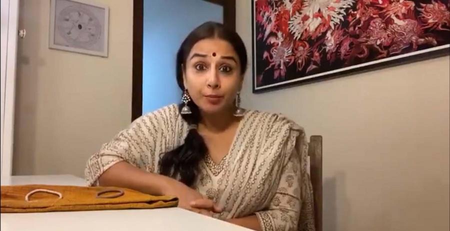 Lockdown diaries: Vidya Balan makes mask out of blouse piece. by .