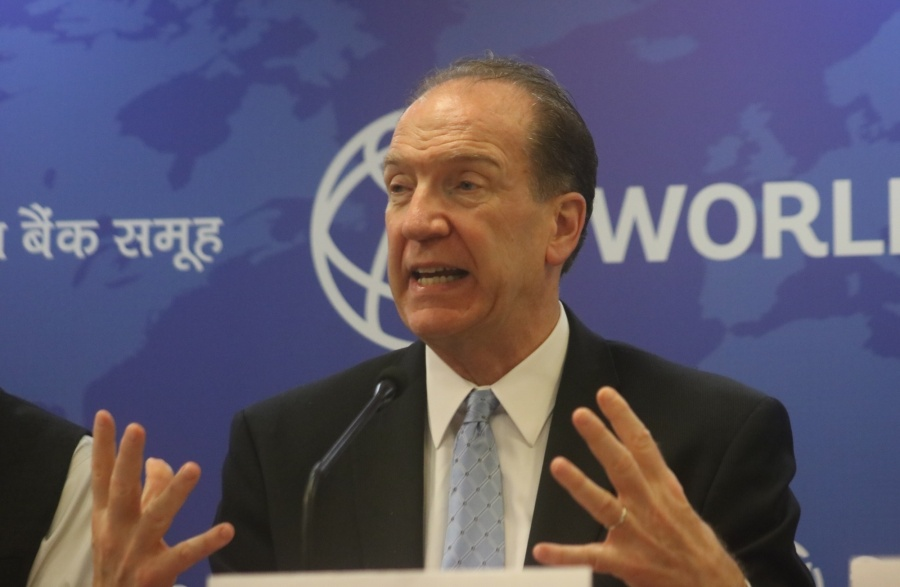 New Delhi: World Bank President David Malpass addresses a press conference in New Delhi on Oct 26, 2019. (Photo: IANS) by .
