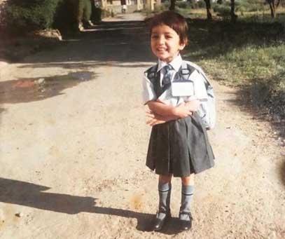 Flashback Friday: Yami Gautam revists first day in school . by .