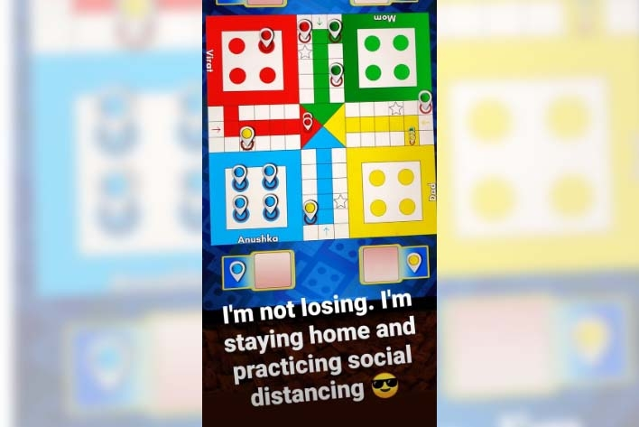Lockdown diaries: It's ludo time for Anushka, Virat. by .