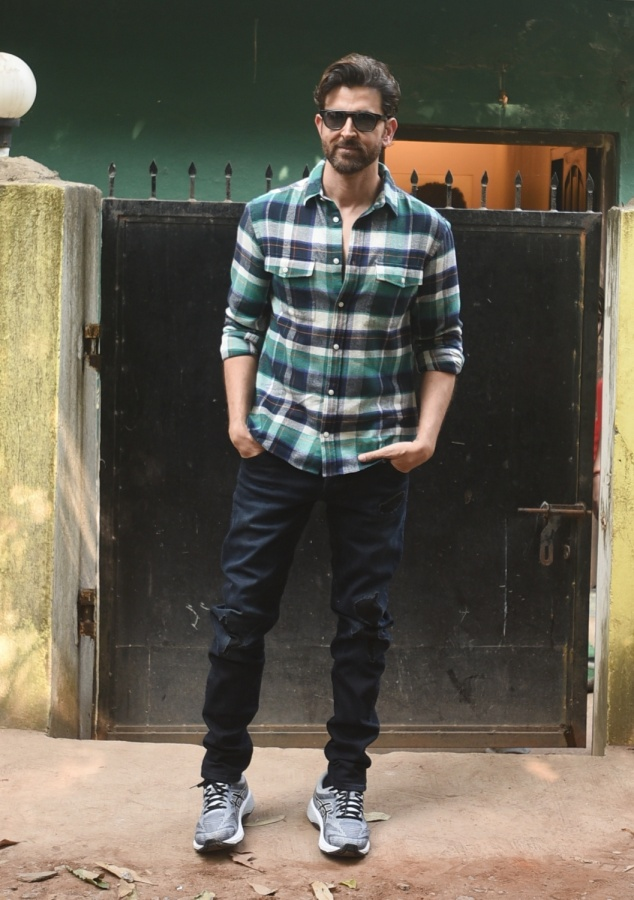 Mumbai: Actor Hrithik Roshan seen at Versova, in Mumbai on Dec 11, 2019. (Photo: IANS) by .