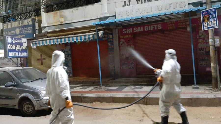 Sanitisation drive underway in greater Hyderabad region. by .