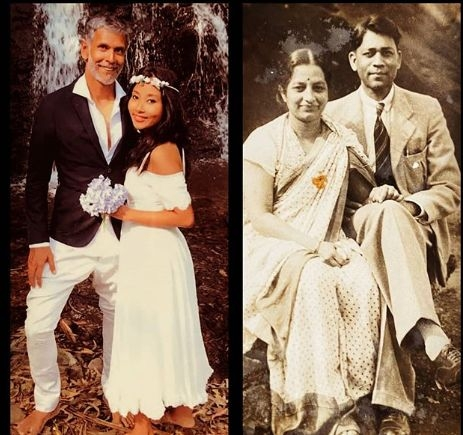 Milind Soman shares grandparents, his wedding pic. by .