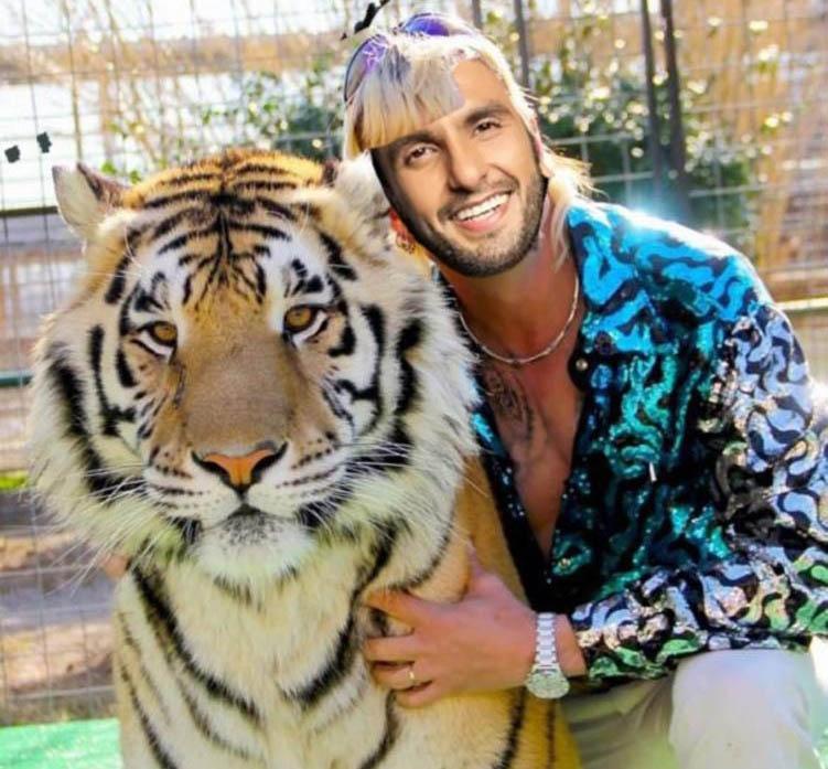 Ranveer Singh turns Joe Exotic in Tiger King meme. by .