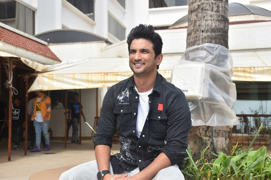 "Mumbai: Actor Sushant Singh Rajput at the promotion of upcoming film ""Chhichhore"" in Mumbai on Aug 25, 2019. (Photo: IANS) by ."