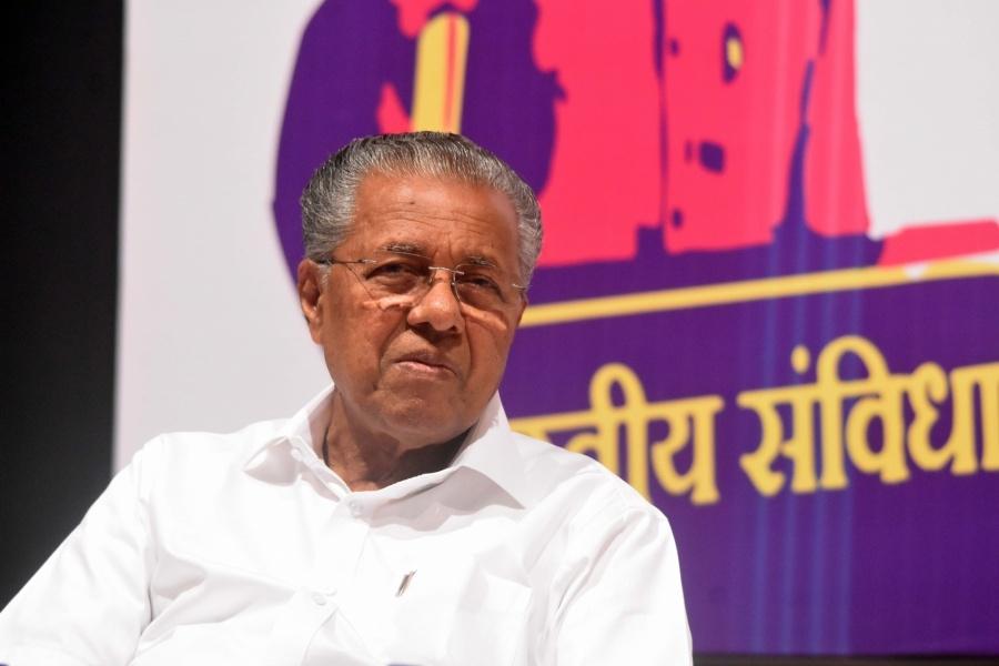 Mumbai: Kerala Chief Minister Pinarayi Vijayan ats 'Mumbai Collective', in Mumbai on Feb 2, 2020. (Photo: IANS) by .